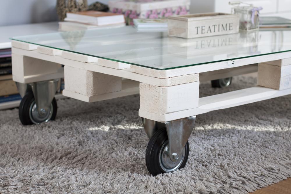 table en palette de bois