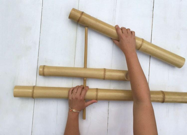 fabriquer une fontaine bambou