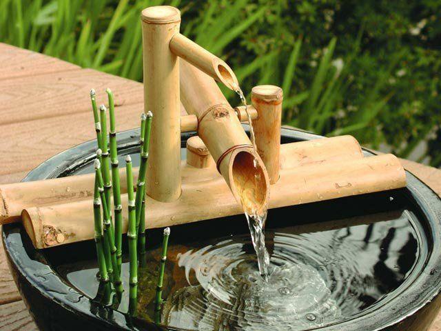 fontaine de bambou fabrication