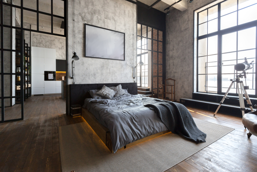Chambre style industriel